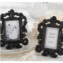 Black Baroque Photo Frame Place Card Holder