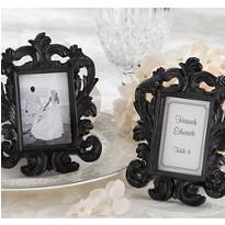 Black Baroque Photo Frame Place Card Holder