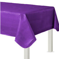 Purple Flannel-Backed Vinyl Table Cover