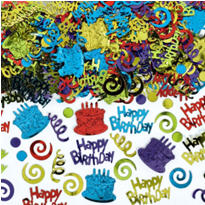 Happy Birthday Type Confetti 5oz