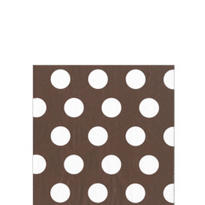 Brown Big Dots Beverage Napkins 20ct