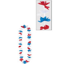 Patriotic Americana Lei 40in