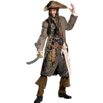 Adult Captain Jack Sparrow Costume Theatrical - Pirates of the Caribbean