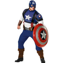 Adult Captain America Costume Plus Size Prestige - First Avenger