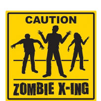 Zombie Crossing Sign 15in