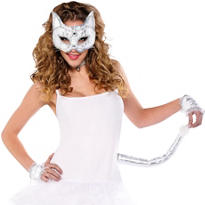 Elegant White Cat Accessory Kit