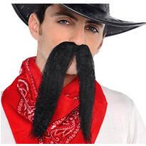 Black Cowboy Moustache