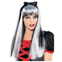 Enchanted Tresses Black/White Wig