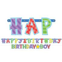 Boy 1st Birthday Banners 2ct