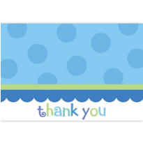 Blue Sweet Little Cupcake Thank You Notes 20ct