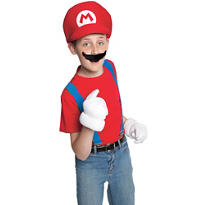 Super Mario Brothers Mario Costume Kit