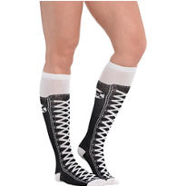 Hi-Top with Skull Knee-High Socks