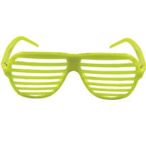 Neon Yellow Slotted Glasses