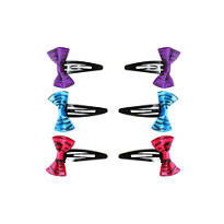 Zebra Bow Barrettes 6ct