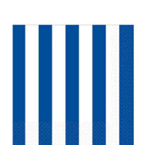 Royal Blue Striped Lunch Napkins 16ct
