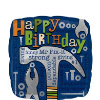 Foil Dad Happy Birthday Balloon 18in