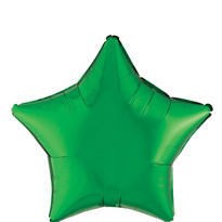 Foil Green Star Balloon 19in