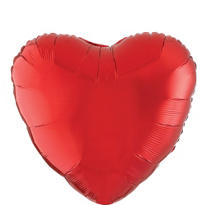 Foil Red Heart Balloon 18in