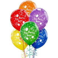 Party's Here Balloons 6ct