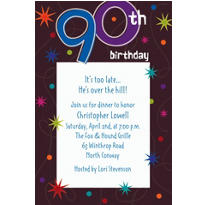 The Party Continues 90 Custom Invitation