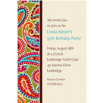 Paisley Brights Custom Invitation