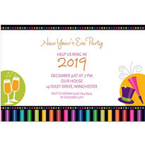 Bright New Year Custom Invitation