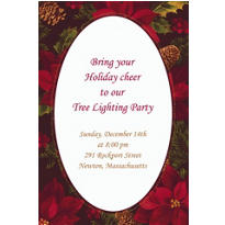 Holiday Enchantment Custom Invitation