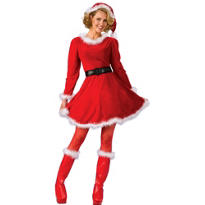 Adult Sexy Mrs. Claus Costume