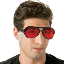 Christmas Sunglasses with Sideburns 6 1/2in