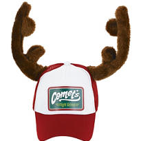 Christmas Trucker Hat with Antlers