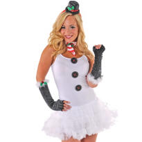 Adult Sassy Snowgirl Costume Kit 7pc