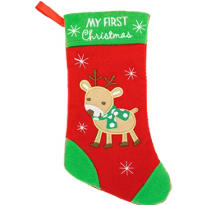 Baby First Christmas Stocking 9in