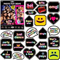 Let's Party Photo Fun Signs 12ct