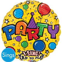 Party Sing A Tune Balloon 18in