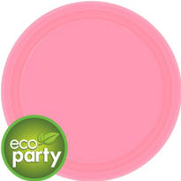 Eco Friendly Pink Paper Lunch Plates 24ct