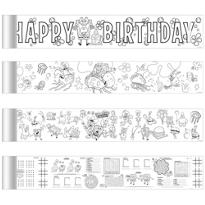 SpongeBob Mini Coloring Banners 4ct