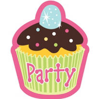 Cupcake Party Invitations 8ct