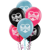 Latex Monster High Balloons 12in 6ct