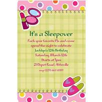 Sleepover Party Custom Invitation