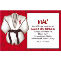 Black Belt Custom Invitation
