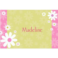Daisy Stripe Custom Thank You Note