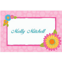 Splashy Flower Custom Thank You Note
