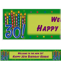 Great Birthday 30 Custom Banner 6ft