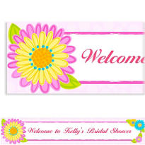 Custom Splashy Flower Banner 6ft