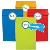 Cabana Personalize It Party Gift Bags with Stickers 12ct
