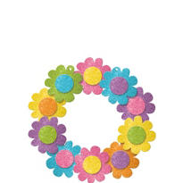 Glitter Spring Wreath 14 1/2in