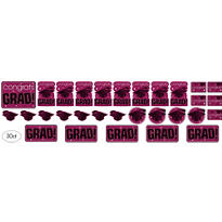 Berry Graduation Cutouts 30ct