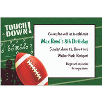 Football Frenzy Custom Invitation
