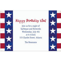 Americana Custom Invitation