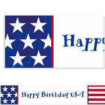 Americana Custom Banner 6ft
